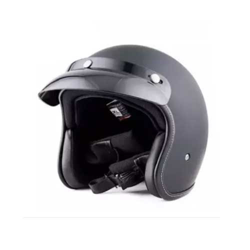 JYT Open Face ABS Helmet Matte/Glossy Black
