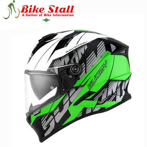 Suomy Stellar Corner Green Helmet
